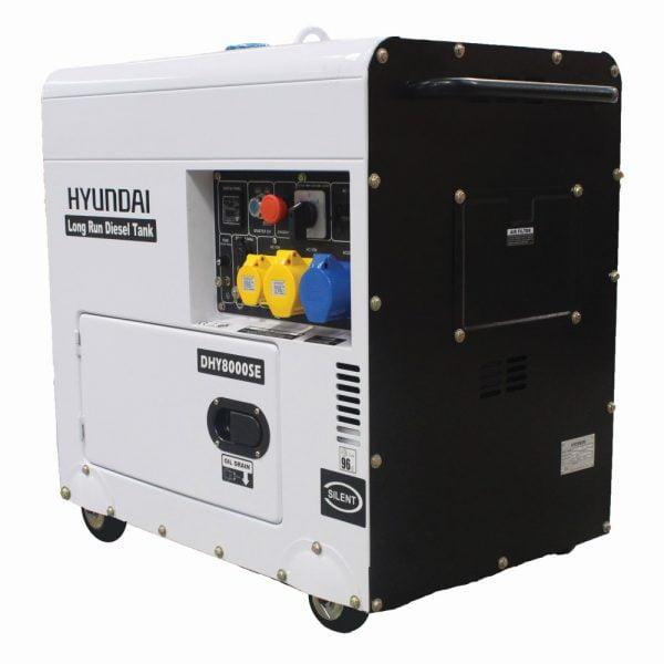 Hyundai DHY8000SELR Portable Diesel Generator