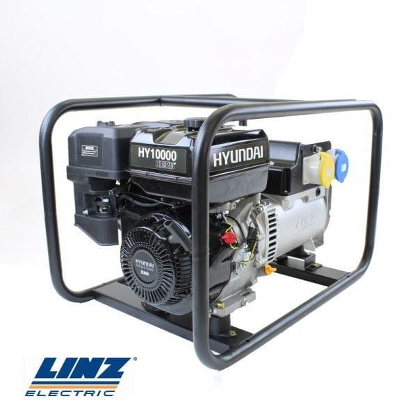 Hyundai-HY10000-Hire-Pro-8Kw-Recoil-Start-Site-Petrol-Generator
