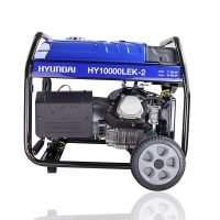 Hyundai HY10000LEK 2 8kW 10kVA Recoil & Electric Start Site Petrol Generator Side View left