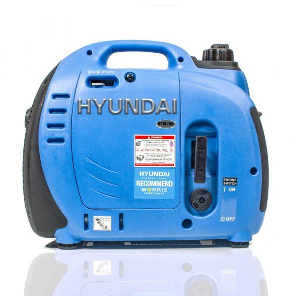 Hyundai HY1000Si Petrol Generator Side View