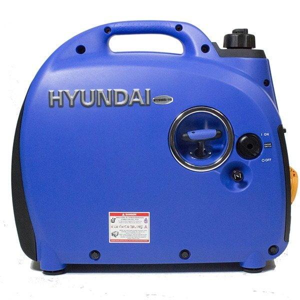 Hyundai HY2000Si 115 1600w Portable Petrol Inverter Generator Side View