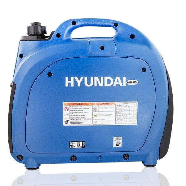 Hyundai HY2000Si 2000w Portable Petrol Inverter Generator Side View Left