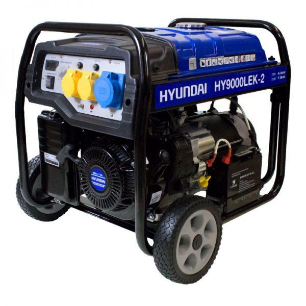 Hyundai-HY9000LEK-2-7.5kW-9.4kVa-Recoil-Electric-Start-Site-Petrol-Generator