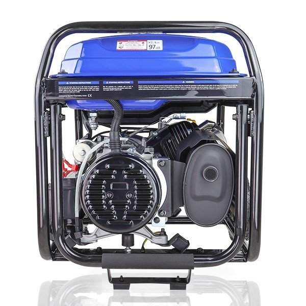 Hyundai HY9000LEK 2 7.5kW 9.4kVa Recoil & Electric Start Site Petrol Generator Rear view