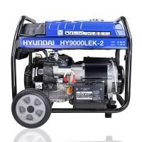 Hyundai HY9000LEK 2 7.5kW 9.4kVa Recoil & Electric Start Site Petrol Generator side view right