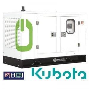 16kVA Diesel Generator 12.8kW Single Phase HSD160H Kubota Powered Silenced