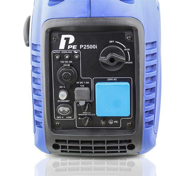P1PE P2500i 2200W Portable Petrol Inverter Generator Controll Panel