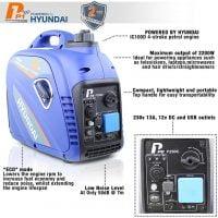 P1PE P2500i 2200W Portable Petrol Inverter Generator Features
