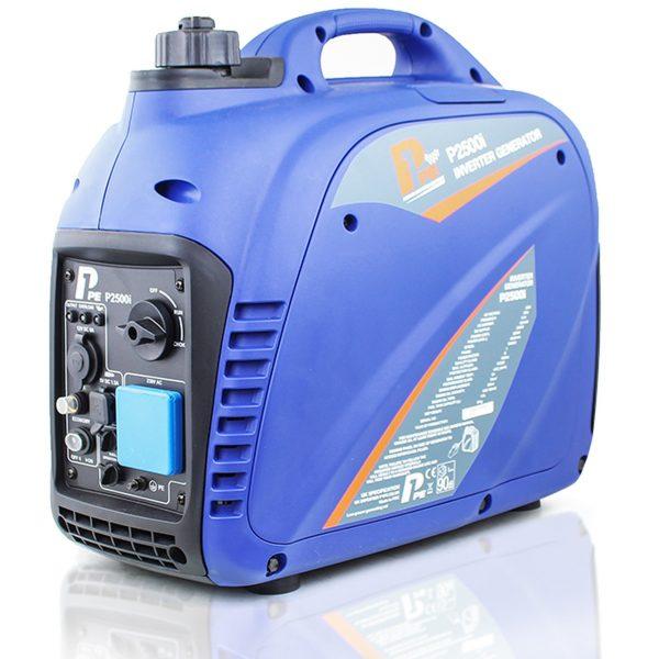 P1PE P2500i 2200W Portable Petrol Inverter Generator Side View Left