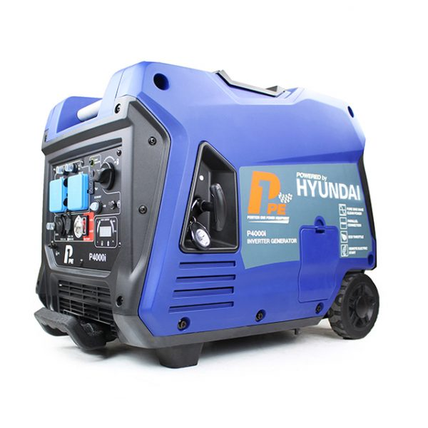 P1PE P4000i 3800W Portable Petrol Inverter Generator Front View Right
