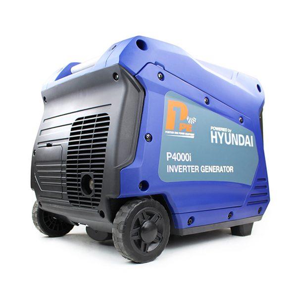 P1PE P4000i 3800W Portable Petrol Inverter Generator Rear View Right