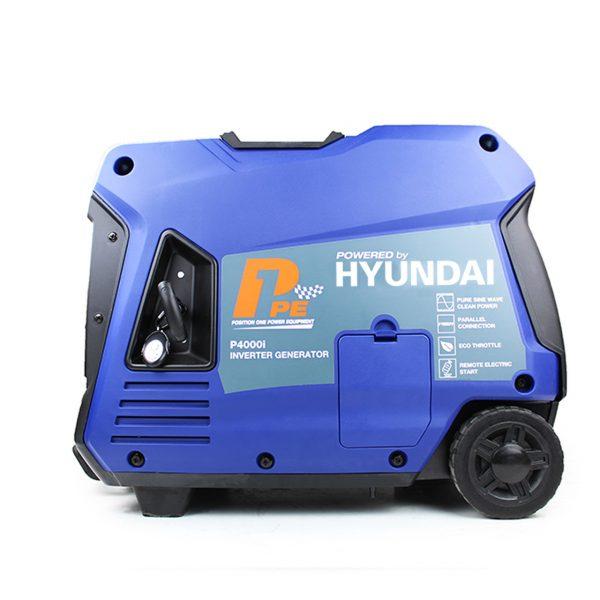 P1PE P4000i 3800W Portable Petrol Inverter Generator Side View Left