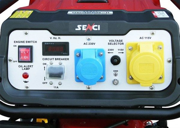SC3250W-ii petrol generator controls