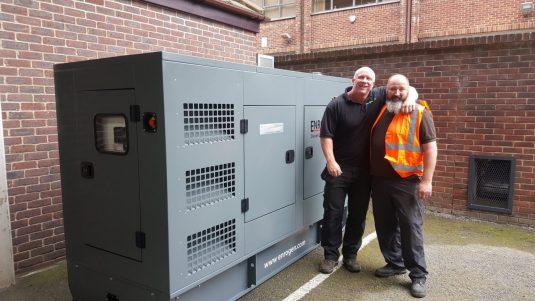 150kVA Perkins diesel generator installation