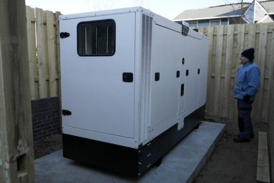 diesel generator installation UPS concrete plinth