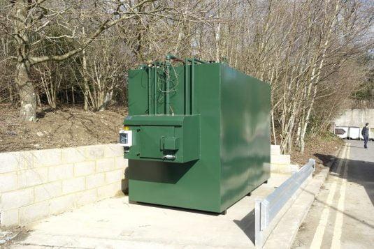 diesel generator bulk fuel tank installation