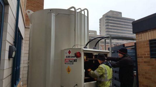 bulk fuel tank installation diesel generator
