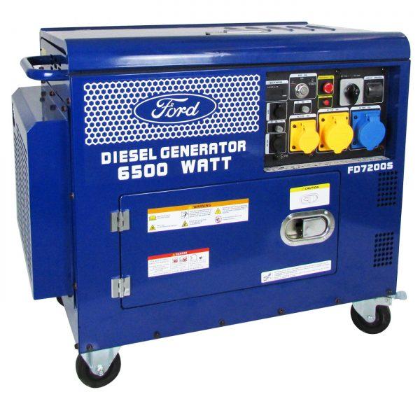 Ford-FD7200S-Portable-Diesel-Generator-7.5-kVA-AVR-Silenced-Canopy
