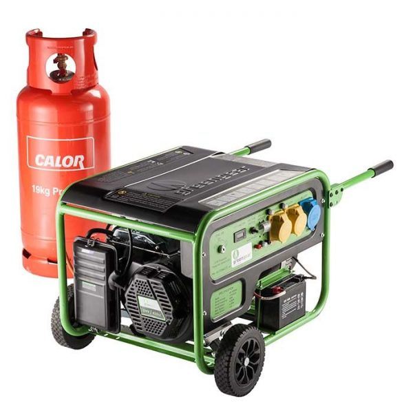 Greengear GE-5000UK 5kw Portable LPG Powered Generator