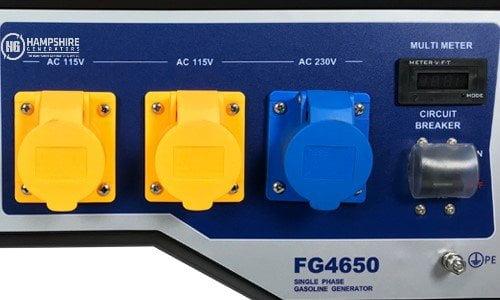 Ford-FG9250-Q-6KW-Electric-Start-Frame-Mounted-Petrol-Generator Sockets