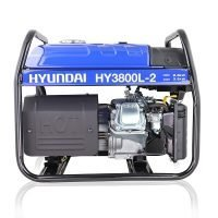 Hyundai HY3800L 2 3.2kW 4kVA Recoil Start Site Petrol Generator Engine View