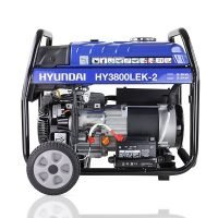 Hyundai HY3800LEK 2 3.2kW 4.00kVA Electric Start Site Petrol Generator Side View