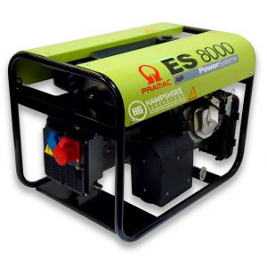 PRAMAC-ES8000-6KW-400V-AVR-THREE-PHASE-LONG-RUN-PETROL-GENERATOR-RECOIL-STAR