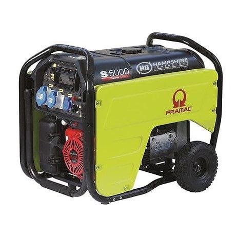PRAMAC-S5000-4.8KW-230V-AVR-CONN-RCD-LONG-RUN-PETROL-GENERATOR-ELECTRIC-START