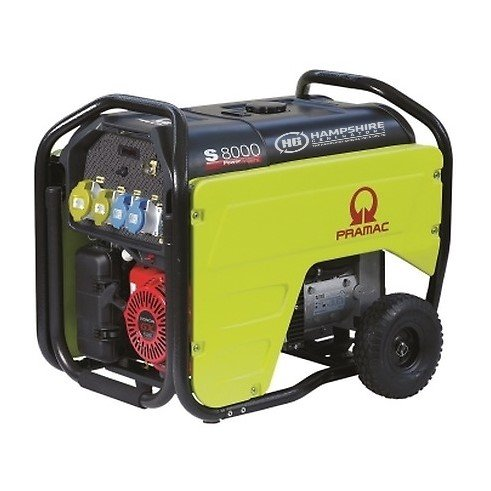 PRAMAC-S8000-6.4KW-230V-110V-LONG-RUN-PETROL-GENERATOR-ELECTRIC-START