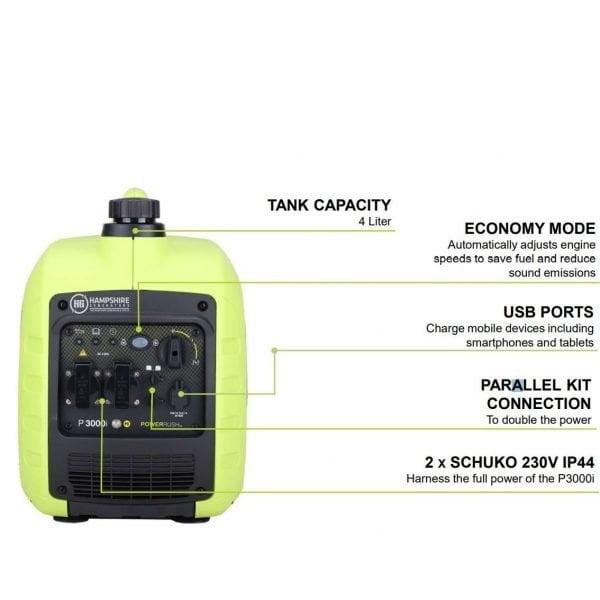 Pramac-P3000i-2500W-Petrol-Inverter-Generator-Socket-View