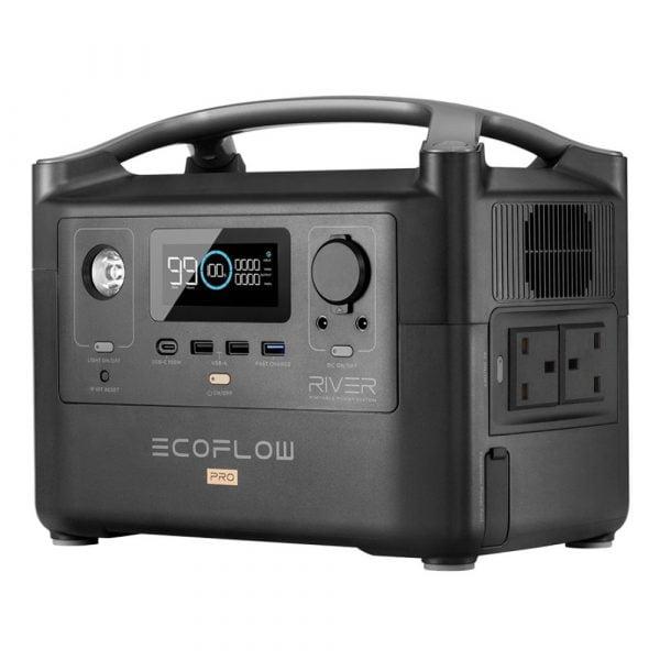 EcoFlow River Pro Portable Power Station UK Version Side View