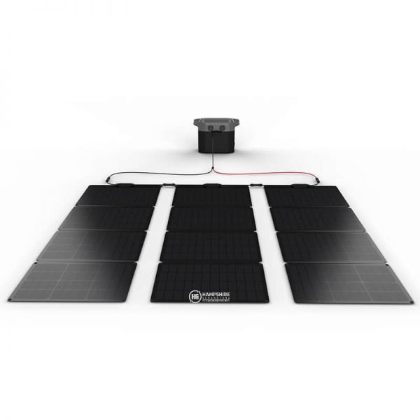 Ecoflow MC4 To XT60 Solar Cable Attached to Solar Panels