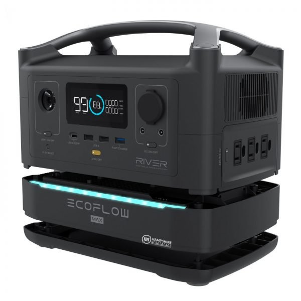 Ecoflow River 600 Max Portable Power Station Split from Battery