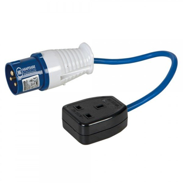 Fly Lead Converter 16A Plug to 13A Socket