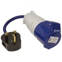 Fly Lead Socket Converter 13A to 16A Socket