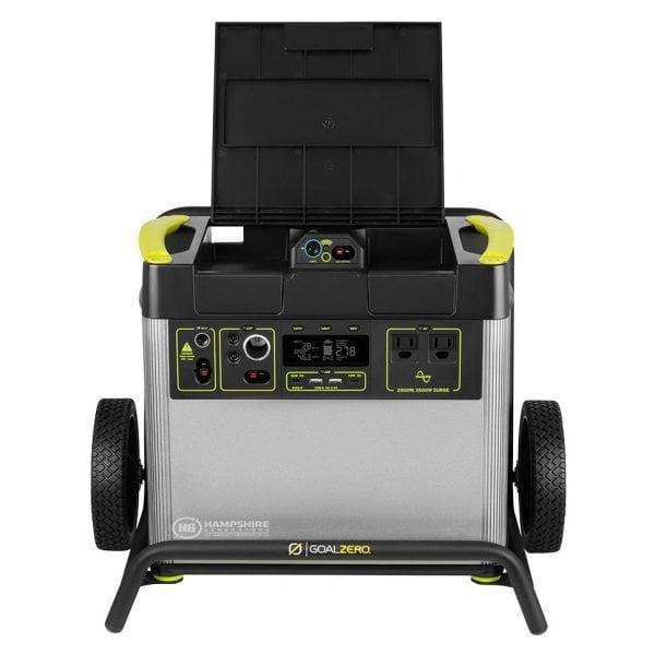 Goal Zero Yeti 3000X 2000W Lithium Portable Power Station Top open