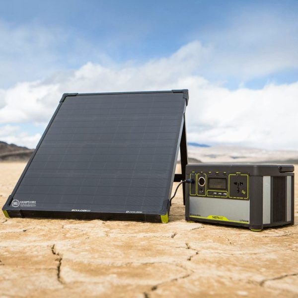 Goal Zero Bolder 50 Solar Panel Lifestyle With Yeti