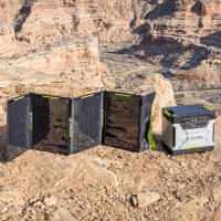 Goal Zero Nomad 100 Solar Panel Lifestyle in use