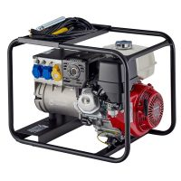Stephill 200Amp AC Welder Petrol Generator With Welding Cable rear View