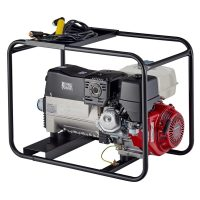 Stephill SW200DC 200Amp DC Welder Petrol Generator With Welding Cable Rear View