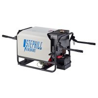 Stephill SE4000DLES 4kVA Silenced Diesel Generator Electric Start With Carry Handles Rear View