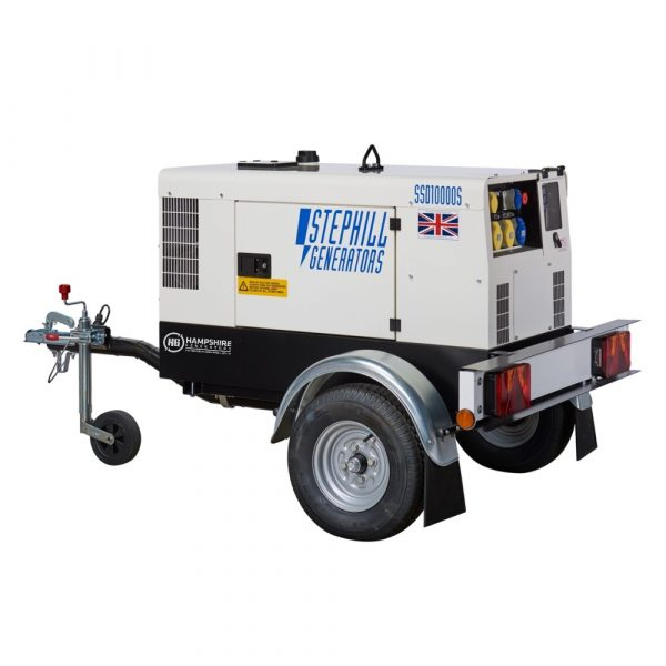 Stephill SSD10000S 3 Phase 10 kVA Diesel Generator On Highway Trailer