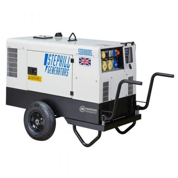 Stephill SSD10000S 3 Phase 10 kVA Diesel Generator on Trolley