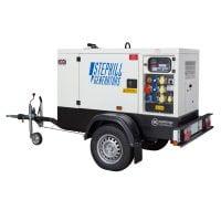 Stephill SSDK20M 20 kVA Diesel Generator On Highway Trailer Rear View