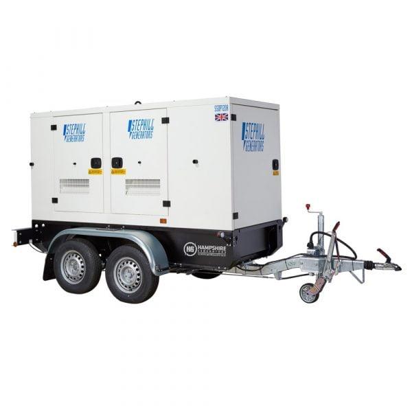 Stephill SSDP120A 117 kVA Perkins Diesel Generator On Highway Trailer Rear View