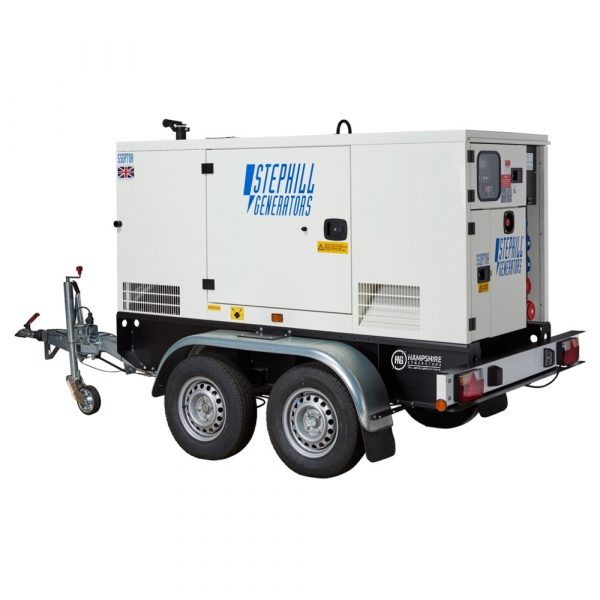 Stephill SSDP70A 67 kVA Perkins Diesel Generator On Highway Trailer