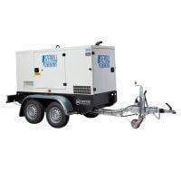Stephill SSDP70A 67 kVA Perkins Diesel Generator On Highway Trailer Rear View