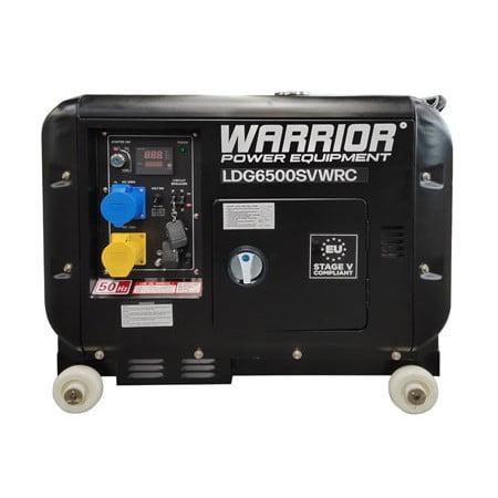Warrior Diesel Generator LDG6500SVWRC 5500 Watts Wireless Remote
