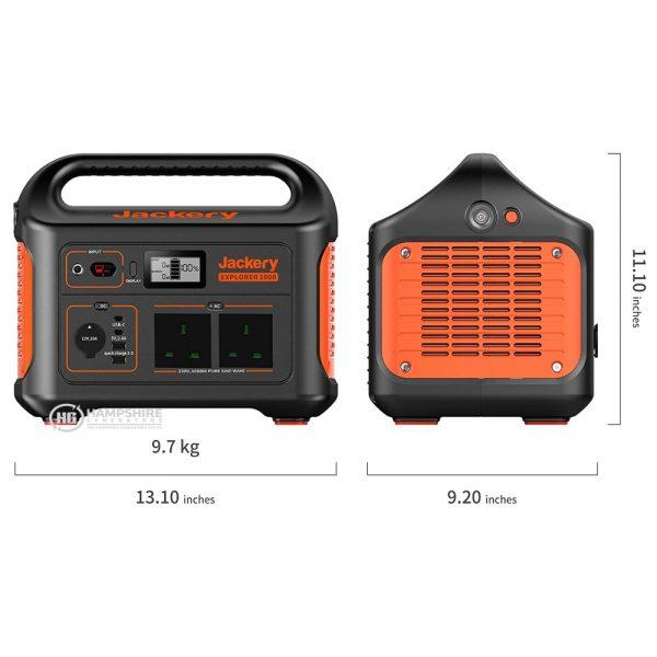 Jackery Explorer 1000 Portable Power Station Dimentions