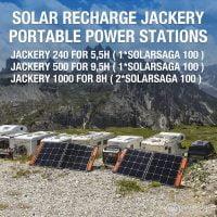 Jackery SolarSaga 100W Solar Panel Charge Times
